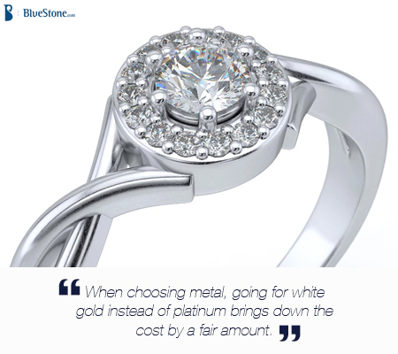 White Gold will look just like platinum, and cost much less!